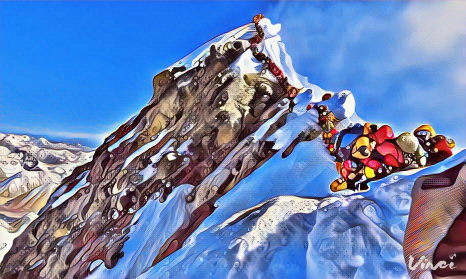 In coda sull'Everest